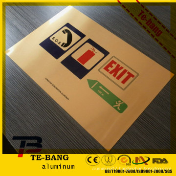 Postive Offset customized aluminum printing plate aluminum license plate