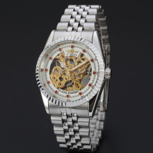 luxury diamond watch with skeleton dial winner watch bezel insert