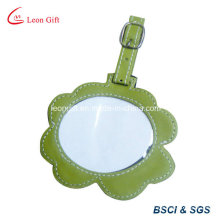 Flower Design Cute Leather Luggage Tag Promotion