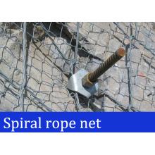 Red de espiral de estabilización de roca