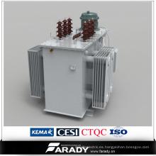 Controlador compensador automático de potencia reactiva sumergida en aceite trifásico