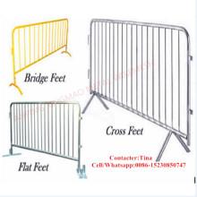 Barrera recubierta galvanizada / del control del camino del PVC / barrera temporal de la cerca (XM-30)