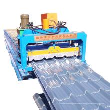 Máquina formadora de rollos de lámina para techos de metal de teja esmaltada de diseño popular