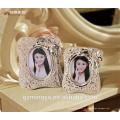 Rose gold haute qualité design haut de gamme polyresin couple photo cadre élégant pour maison pièces de table d'hôtel décor intérieur