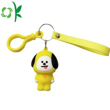 Nowy projekt Hot Selling Custom Dog Silicone Keychain