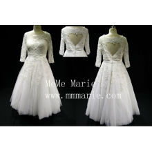 Suitable short country with beadings three quarter wedding dresses BYB-14591