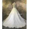 Novos vestidos de casamento Custom Customized com embelezamento