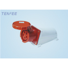 conector IP67 de pared 63A 3P + N + E