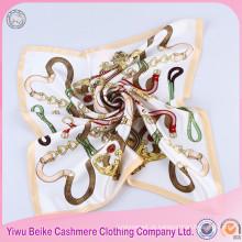 Cachecol de seda de lenço quadrado grande mais popular