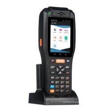 Scanner de código de barras portátil robusto PDA com carregador de mesa