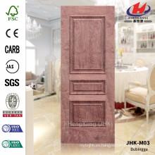 JHK-M03 12MM Profundidad Nuevo diseño FSC Certificado HDF N-Rosewood que presiona la chapa de madera N-Bubinga Hoja de la puerta