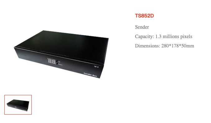 Sending Box Of Single Color Led Display Ts852d