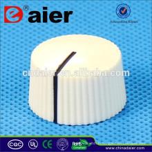KN-7074 bouton de potentiomètre de pointeur rond dentelé avec bouton de pédale de fil