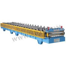 Machine de formage de panneaux et de rouleaux à double couche ondulée