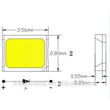 A saída alta super do fluxo e a luminância alta 0.1w / 0.2w SMD 2835 conduziu / a microplaqueta smd 2835 conduzida