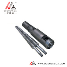 weber 45mm conical double screw and cylinder /screw barrel for PVC pipe profile extruder Parallel twin screws