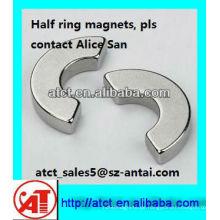 Maßgeschneiderte ständige halbe Ringmagnet
