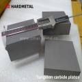 Placas de carboneto de tungstênio
