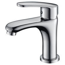 Traditional style single handle basin faucet brass