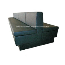 Black Color Restuarant Three-Seater Booth Sofa