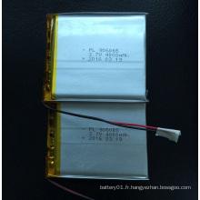 Batterie rechargeable Li-Polymer à haute capacité 4 000 mAh 906065 haute capacité