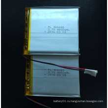 Высокая емкость 4000mAh 906065 3.7V Li-Polymer Rechargeble Battery
