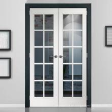 Puerta de madera maciza acristalada de vidrio CE