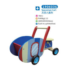 Wooden Push Along Cart for Children for Kids