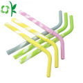 Mixing Color FDA Silicone Straw Bottle for Drink