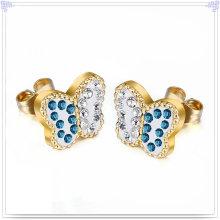 Accesorios de moda joyería de cristal pendiente de acero inoxidable (EE0236)