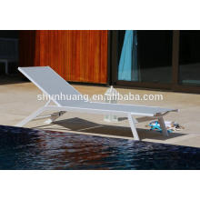 All weather outdoor sun lounger aluminum frame chair poolside chaise lounge