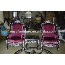 Style néo-classique de style royal roi roi chaise salon pour salon utilisé XYD124