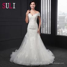 Сл-003 секси с открытыми плечами без бретелек Русалка свадебное платье 2016