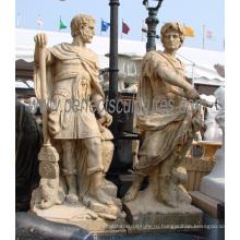 Резьба по камню Мраморный воин Статуя Скульптура для украшения сада (SY-X1310)