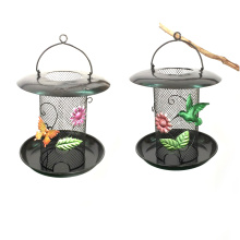 Functional Garden Hanging Decoration Metal Birdfeeder