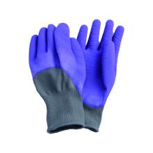 13G Polyster Liner Latex beschichtet offenen Handschuh