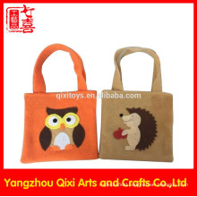 Handmade cheap felt tote bag felt handbag embroidery animals felt bag