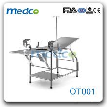 Столик для акушерской работы пациента из нержавеющей стали OT001