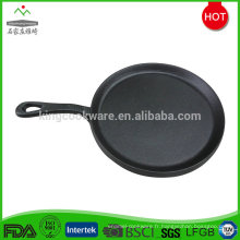 Poêle à frire pré-assaisonnée en fonte durable de 25,5 cm avec poignée