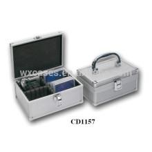 boîte de haute qualité CD 20 disques (10mm) aluminium DVD vend en gros