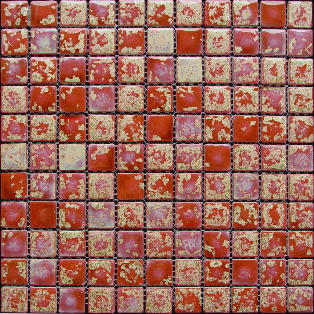 Red Glazed Transforming Wall Paving Mosaic