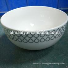Alto cerámica blanca tazón de fideos