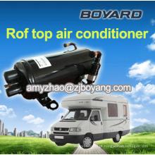 O condicionador de ar montado telhado parte o compressor do condicionador de ar da caravana para o táxi do dorminhoco do caminhão do rv