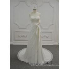 Los vestidos de boda marfil de la trompeta de los vestidos de boda 2017 de la última boda nupcial importan el vestido de boda de Guangzhou