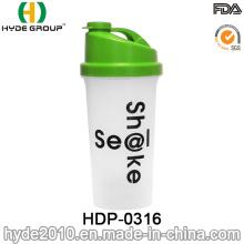 Botella de agua plástica de la proteína de la coctelera de los PP de la venta caliente 700ml (HDP-0316)