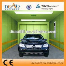 Único, entrada, coche, ascensor, acero, pintado, coche, pared