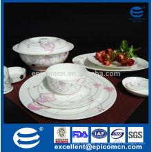Nova porcelana de porcelana serviço de jantar