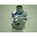 Abrazadera de manguera de enclavamiento para acoplamiento de manguera de vapor