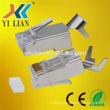 Shield CAT7 rj45 plug connector 24AWG crystal head Ethernet Module Plug 8P8C 8pin 8core gold plated fu EIA TIA 568A 568B
