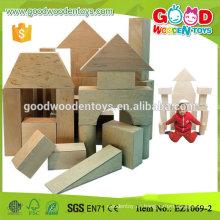 EN71 aprobó bloques de construcción grandes educativos de la madera contrachapada 17pcs
